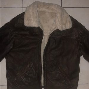 Women's real leather jacket with fur
